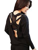 economico -Per donna Set Manica lunga Asciugatura rapida Antivento Traspirabilità Top per Costumi da ragazza pon pon Corsa Jogging Cotone Crêpe