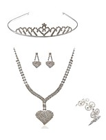 cheap -Women's Headwear Bridal Jewelry Sets Rhinestone Fashion European Wedding Party Imitation Diamond Alloy Geometric Heart Body Jewelry 1