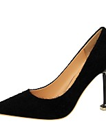 cheap -Women's Shoes Leatherette Spring Fall Comfort Heels Stiletto Heel Pointed Toe for Party & Evening Khaki Silver Black