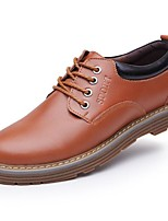 cheap -Men's Shoes Cowhide Winter Fall Formal Shoes Oxfords for Office & Career Brown Yellow Black
