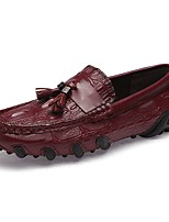 Недорогие -обувь Искусственное волокно Весна Осень Формальная обувь Мокасины Удобная обувь Мокасины и Свитер для Повседневные Офис и карьера Черный