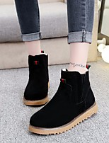 cheap -Women's Shoes Nubuck leather Winter Fall Comfort Bootie Boots Flat Heel Booties/Ankle Boots for Casual Camel Gray Black