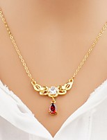 cheap -Women's Drop Asian Fashion Elegant Pendant Necklace Chain Necklace Cubic Zirconia Zircon Gold Plated Pendant Necklace Chain Necklace ,