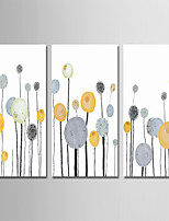 cheap -Hand-Painted Abstract Vertical, Comtemporary Simple Modern Canvas Oil Painting Home Decoration Three Panels
