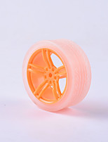 cheap -Crab Kingdom® DIY Educational Car Parts Car Wheel  TT Motor Tyre 1PCS Orange and Transparent #4