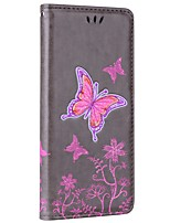 cheap -Case For Samsung Galaxy Note 8 Card Holder Wallet with Stand Flip Embossed Full Body Butterfly Hard PU Leather for Note 8