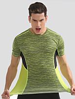 economico -Per uomo T-shirt da corsa Manica corta Asciugatura rapida Traspirabilità T-shirt per Corsa Esercizi di fitness Nylon Largo Giallo Blu S M