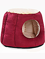cheap -Cat Dog Bed Pet Mats & Pads Solid Warm Soft Red Purple Gray For Pets