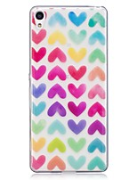 cheap -Case For Sony Xperia M2 Xperia XA Pattern Back Cover Heart Soft TPU for Sony Xperia XA Sony Xperia M2