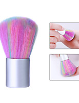 cheap -Rainbow Pink Color Soft Nail Cleaning Brush Acrylic UV Gel Powder Dust Remover Tool Manicure Nail Care DIY Salon Tool