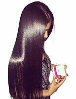 cheap -Human Hair Lace Front Wig Mongolian Hair Straight Wig With Baby Hair 120% Natural Hairline Women's Short / Medium Length / Long Human Hair Lace Wig