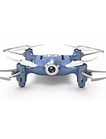 economico -RC Drone SYMA HY21W Blue 4 Canali 6 Asse 2.4G Con la macchina fotografica 0.3MP HD Quadricottero Rc WIFI FPV Illuminazione LED Tasto