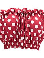 cheap -Women's Cotton Polyester Blouse - Polka Dot Boat Neck