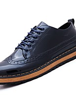 cheap -Men's Shoes Synthetic Microfiber PU Winter Fall Comfort Oxfords for Casual Dark Blue Black