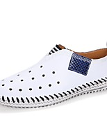 cheap -Men's Shoes Cowhide Spring Summer Comfort Loafers & Slip-Ons for Casual Orange Black White