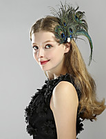 cheap -1920s The Great Gatsby Costume Unisex Headpiece Flapper Headband Black Vintage Cosplay Feather Sleeveless