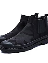 cheap -Men's Shoes PU Fabric Winter Fall Fashion Boots Comfort Boots for Casual Black