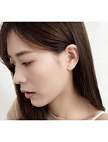cheap -Women's One-piece Suit Stud Earrings Lovely Korean Copper Silver Plated Mini Jewelry Party Office & Career Costume Jewelry