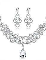 cheap -Women's Bridal Jewelry Sets Rhinestone Alloy Drop Formal Fashion Sweet Wedding Party 1 Necklace Earrings Costume Jewelry