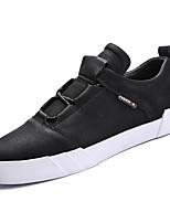 Недорогие -обувь Кожа Весна Осень Удобная обувь Кеды для Повседневные Белый Черный