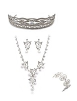 cheap -Women's Tiaras Bridal Jewelry Sets Rhinestone Fashion European Wedding Party Imitation Diamond Alloy Geometric Butterfly Body Jewelry 1