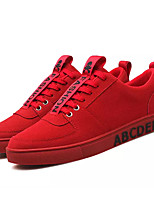 cheap -Men's Shoes PU Spring Fall Comfort Sneakers for Outdoor Red White Gold