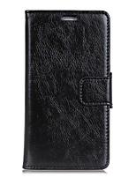 Недорогие -Кейс для Назначение SSamsung Galaxy J3 (2016) Кошелек Бумажник для карт с окошком Флип Чехол Сплошной цвет Твердый Искусственная кожа для