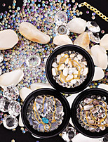 cheap -Outfits Rhinestones Crystal Nail Glitter Coffee Bone Beige White Sets