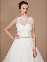 cheap -Sleeveless Lace Tulle Wedding Party / Evening Women's Wrap With Applique Lace Vests