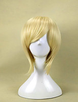 cheap -Synthetic Wig Princess Tomoyo The Prince of Tennis Straight Cosplay Layered Haircut Wig Short Brown Blonde Blue Green Purple Synthetic Hair 10 inch Men's Cosplay Synthetic Blonde Green hairjoy
