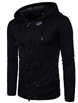 cheap -Men's Petite Daily Vintage Hoodie Solid Hooded Hoodies Micro-elastic Polyester Long Sleeve Fall