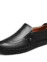 Недорогие -Муж. обувь Кожа Весна Осень Удобная обувь Формальная обувь Мокасины и Свитер для Повседневные Для вечеринки / ужина Черный Темно-русый