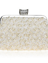 cheap -Women Bags Polyester Evening Bag Pearl Detailing for Casual All Season Beige White Champagne