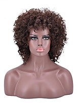 cheap -Cheap Women  Brown Color Synthethic Wig Top Selling Medium Afro Kinky Curly Synthetic Hair Wigs For Black Women