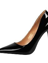 preiswerte -Damen Schuhe Kunstleder Frühling Herbst Komfort High Heels Stöckelabsatz für Party & Festivität Schwarz Braun Rot Kamel Hautfarben