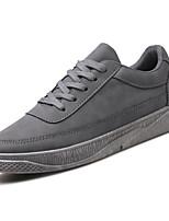 Недорогие -Для мужчин обувь Полиуретан Весна Осень Удобная обувь Кеды для Повседневные Черный Серый Верблюжий