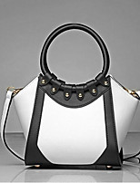 cheap -Women Bags PU Tote Zipper for Casual All Season Black White