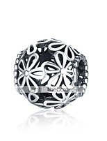 cheap -DIY Jewelry 1 pcs Beads Silver Silver Ball Bead 1.1 DIY Bracelet Necklace