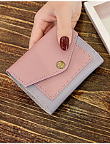 cheap -Women's Bags PU Wallet Buttons Pockets for Casual Office & Career All Seasons Light Purple Blushing Pink Red