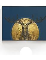 baratos -Abstrato Pintura de Óleo Arte de Parede,Poliestireno Material com frame For Decoração para casa Arte Emoldurada Sala de Estar