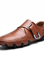 Недорогие -Муж. обувь Кожа Весна Осень Формальная обувь Удобная обувь Мокасины и Свитер для Офис и карьера Для вечеринки / ужина Черный