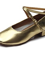 "cheap -Kids' Kids' Dance Shoes Patent Leather Heel Training Low Heel Gold 2"" - 2 3/4"" Customizable"
