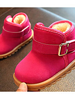 cheap -Girls' Shoes Leatherette Winter Fall Comfort First Walkers Snow Boots Boots Booties/Ankle Boots for Casual Brown Fuchsia Black