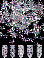 economico -12 pezzi Accessorio per strumento fai da te Con lustrini Glitter per unghie Multicolore