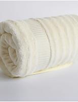 abordables -Style frais Serviette de bain,Couleur unie Qualité supérieure 100% Fibre de bambou Etoffe jacquard Serviette