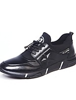 cheap -Men's Shoes PU Leather Winter Fall Light Soles Comfort Sneakers for Casual Outdoor Black