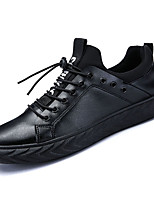 cheap -Men's Shoes PU Spring Fall Comfort Sneakers for Outdoor Black