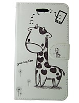 cheap -Case For Huawei P8 Lite Card Holder Wallet with Stand Flip Full Body Cases Cartoon Hard PU Leather for