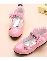 cheap -Girls' Shoes Leatherette Spring Fall Comfort Crib Shoes Flats for Casual Pink Fuchsia Black White