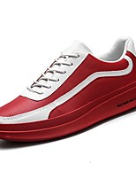cheap -Shoes Synthetic Microfiber PU Spring Fall Comfort Sneakers for Casual White Red